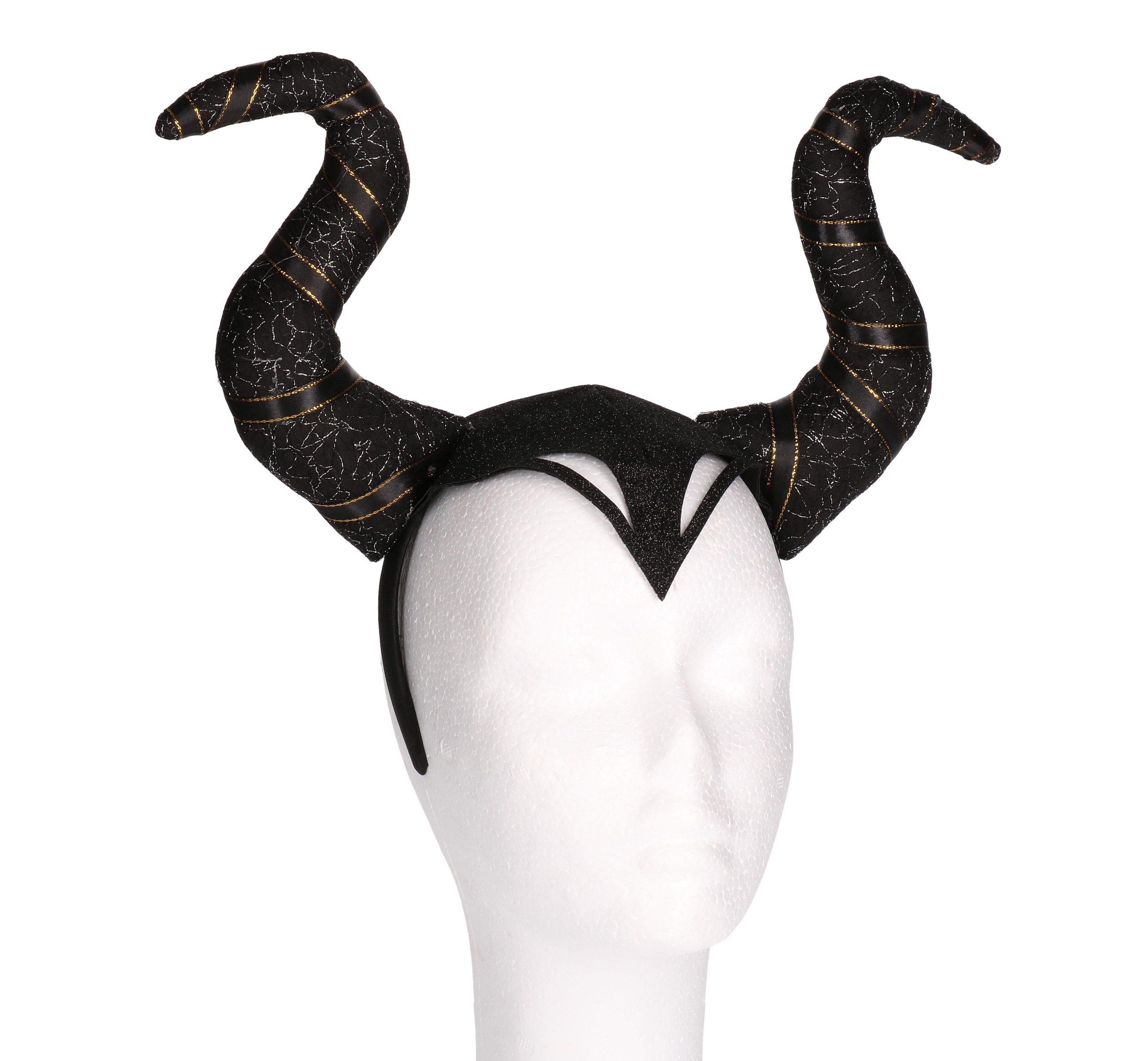 Diadeem hoorns zwart