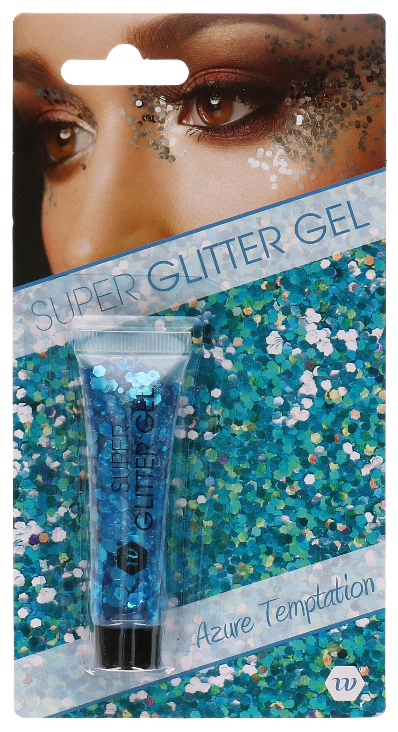 Glitter gel blauw 14ml