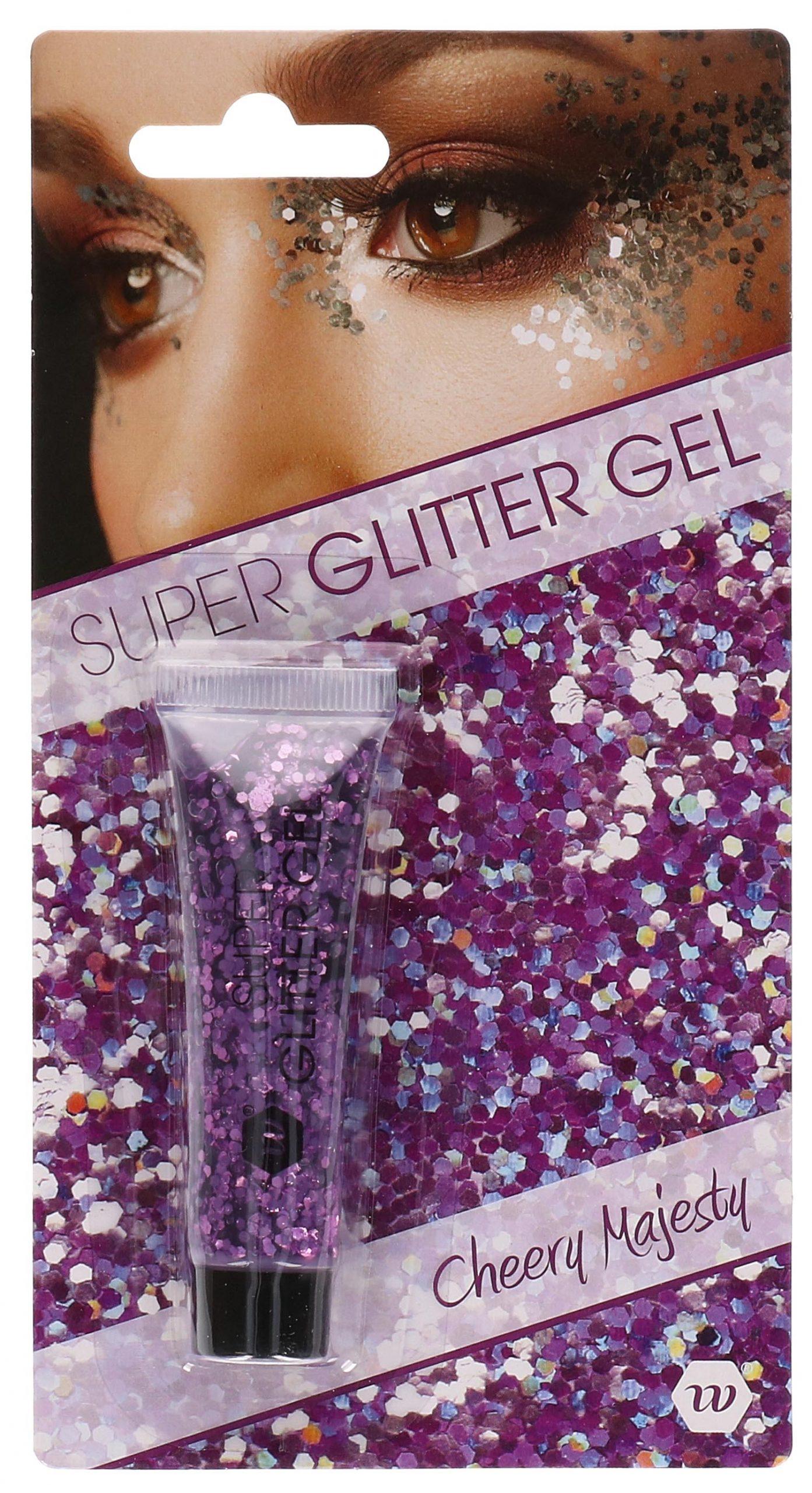 Glitter gel paars 14ml