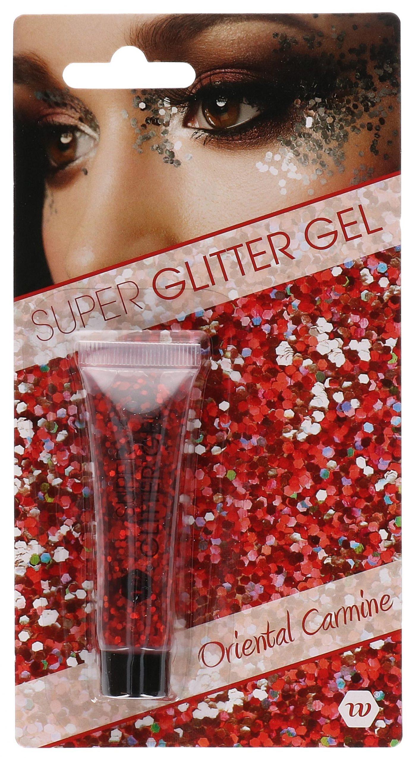 Glitter gel rood 14ml