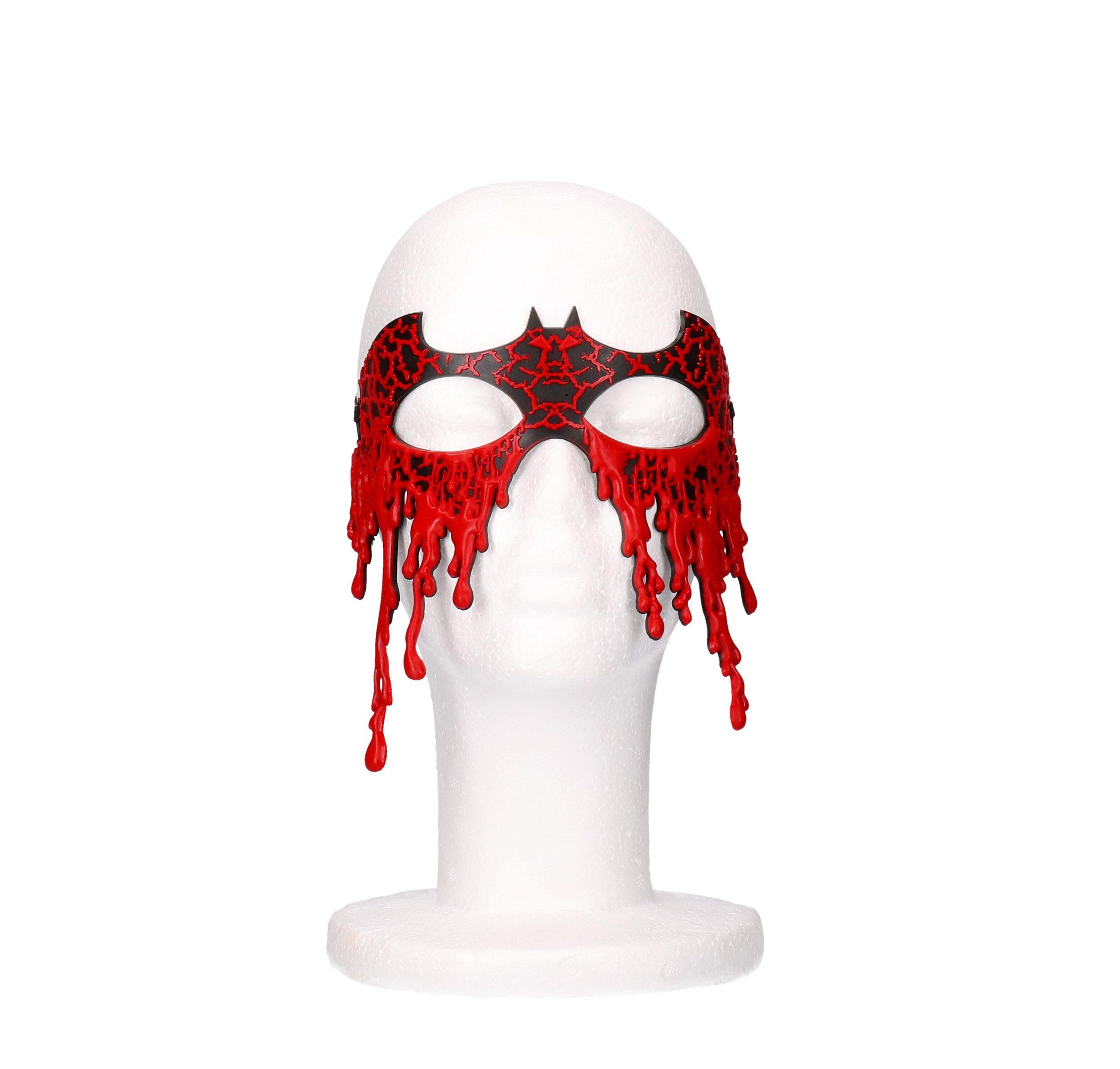 Halloween bloederig masker zwart