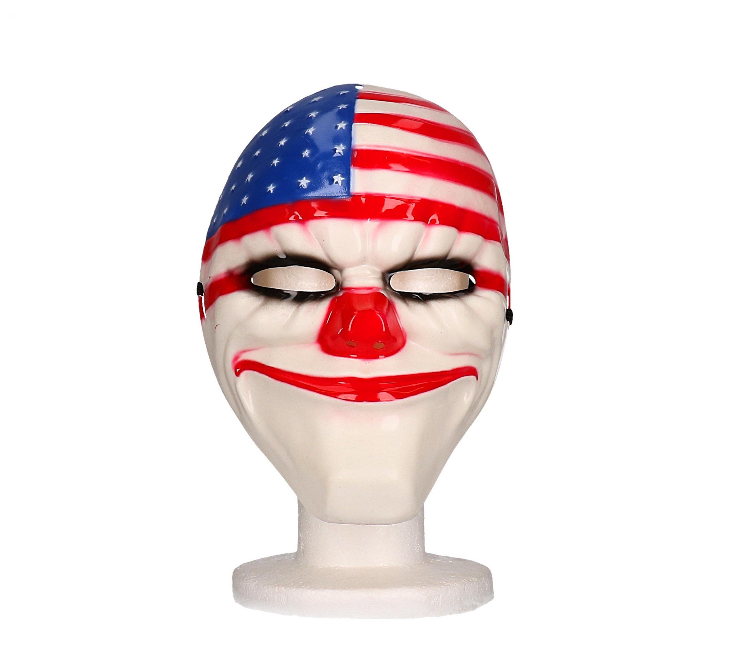 Masker clown usa vlag