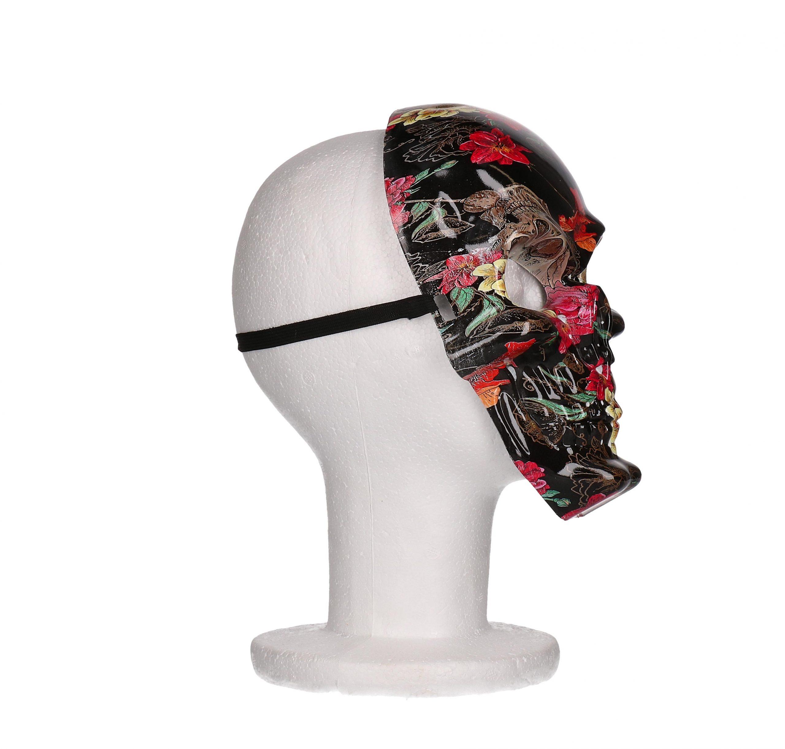 Masker skull bloem print