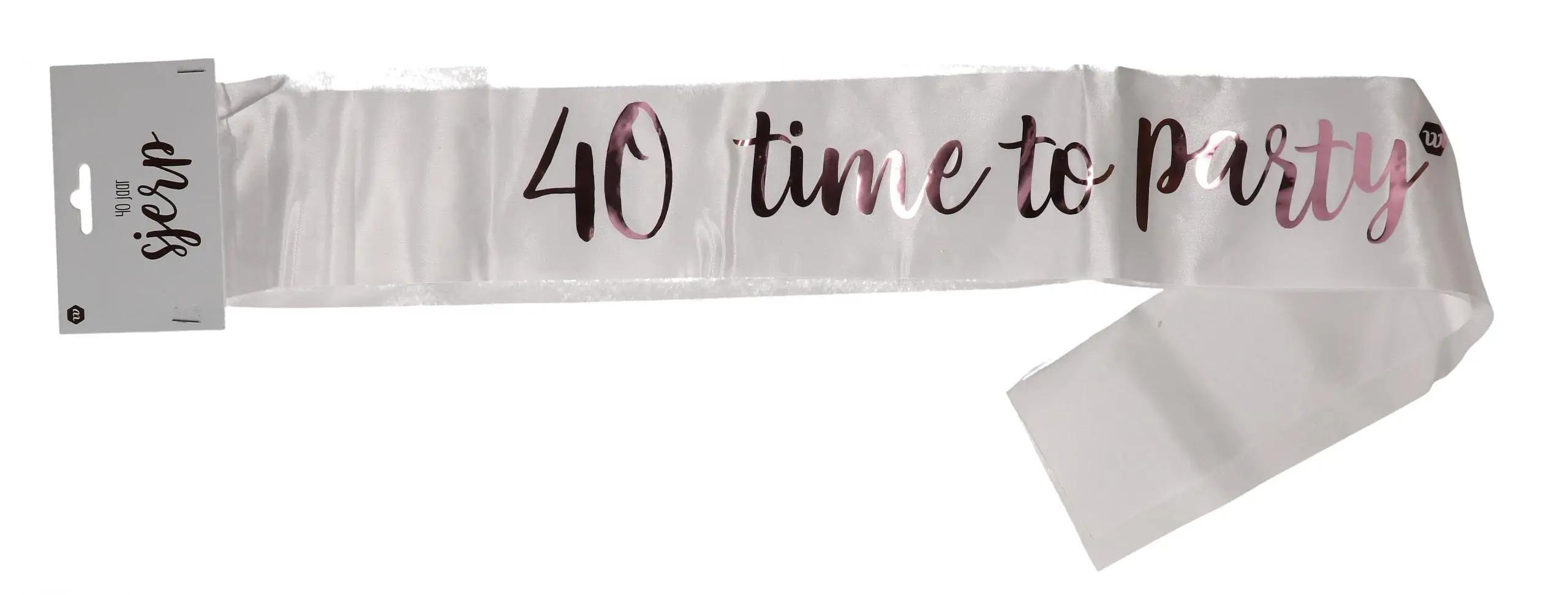 Rose-goud sjerp 40 jaar