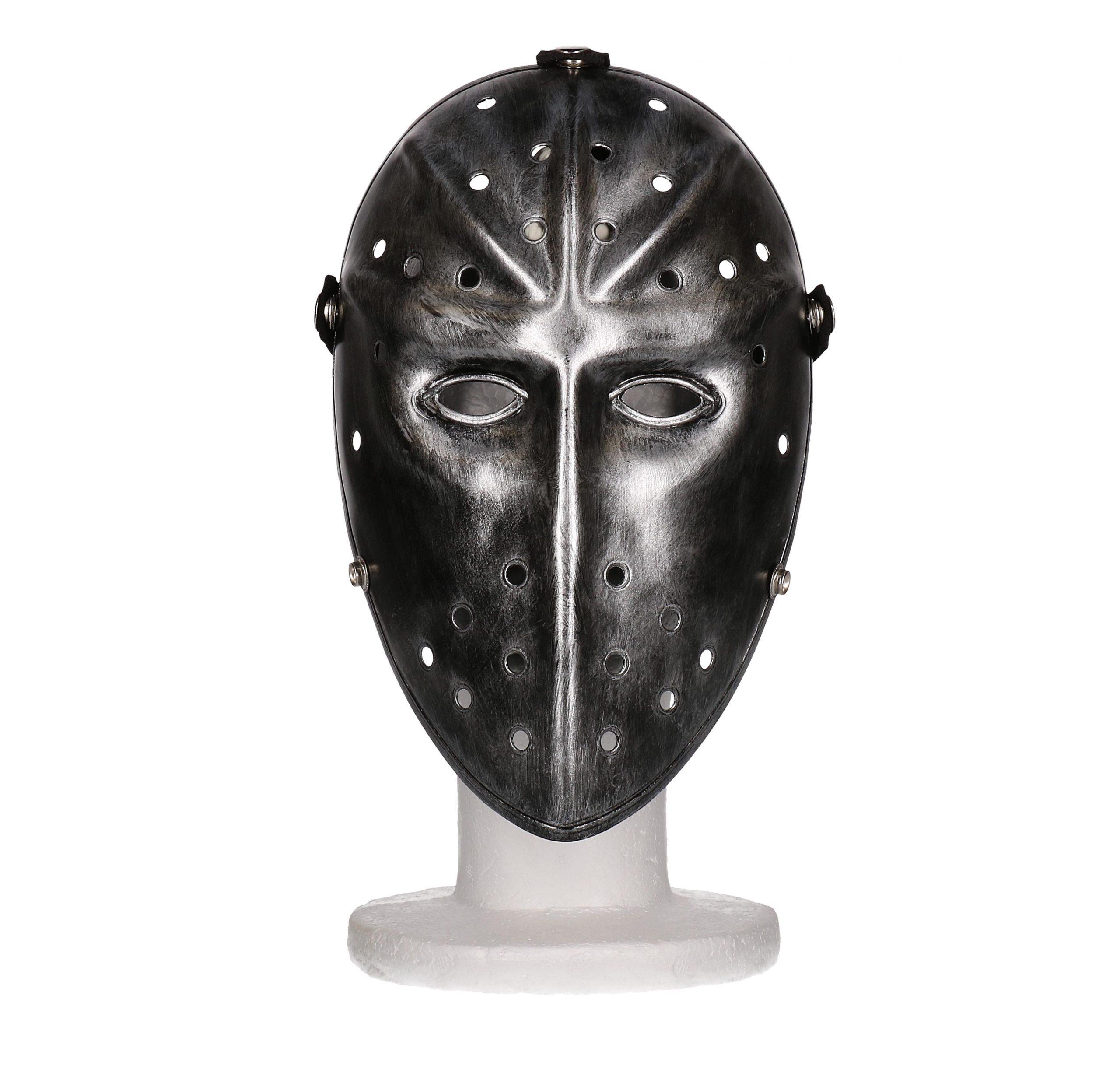hockey Masker zwart metallic