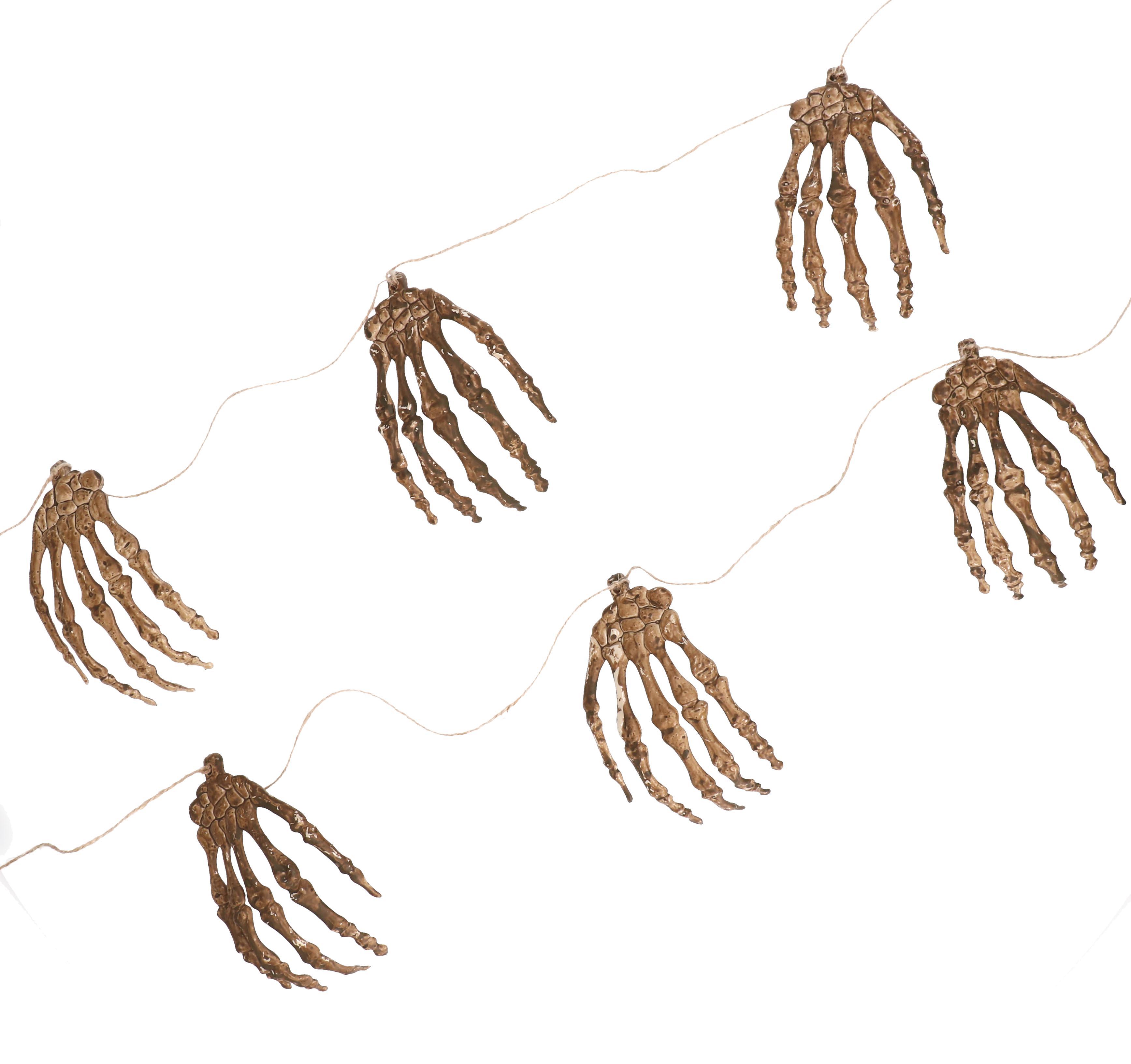 """Halloween slinger handjes 6 stuks """"groot"""""""