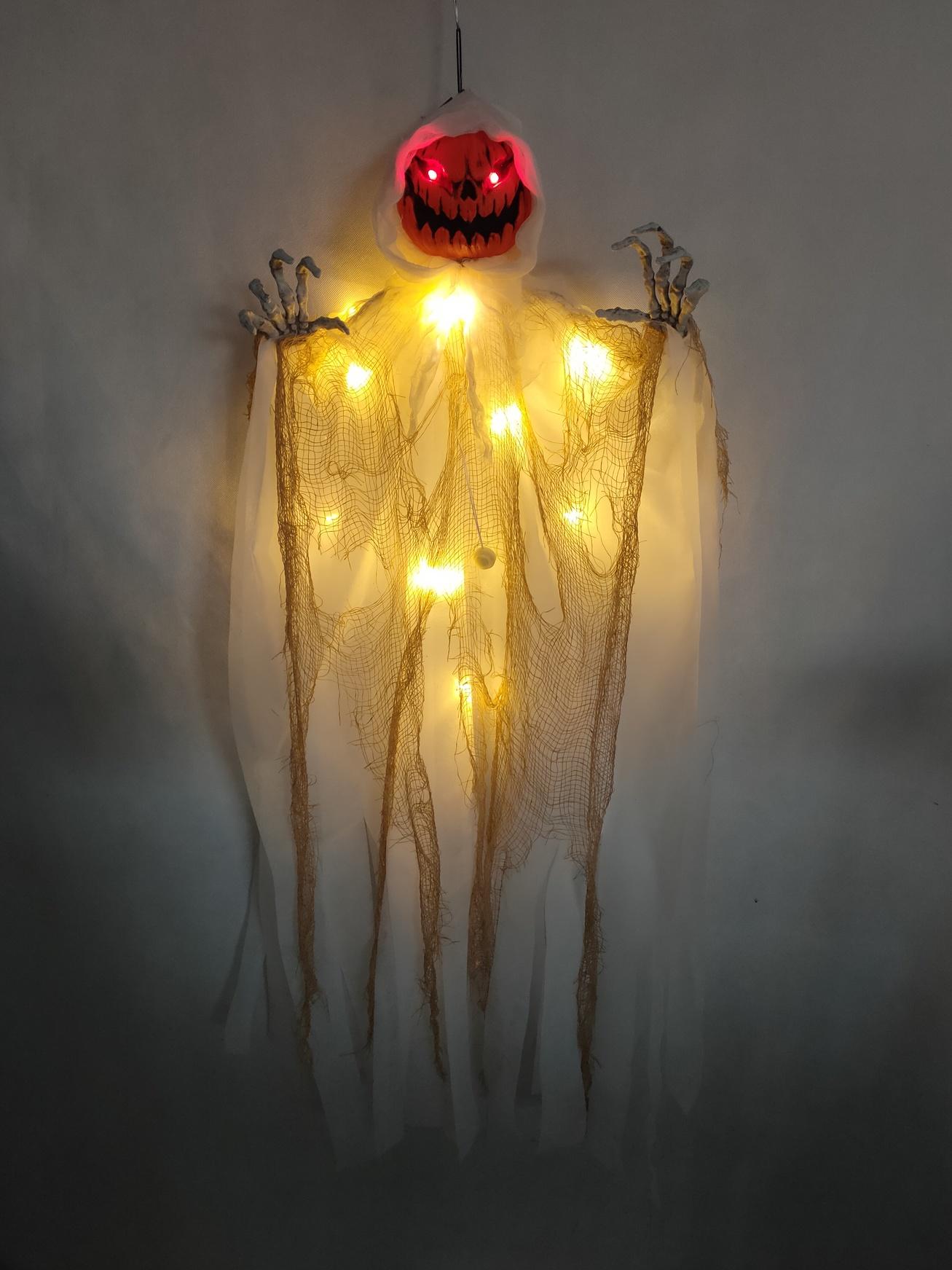Pompoen spook met licht